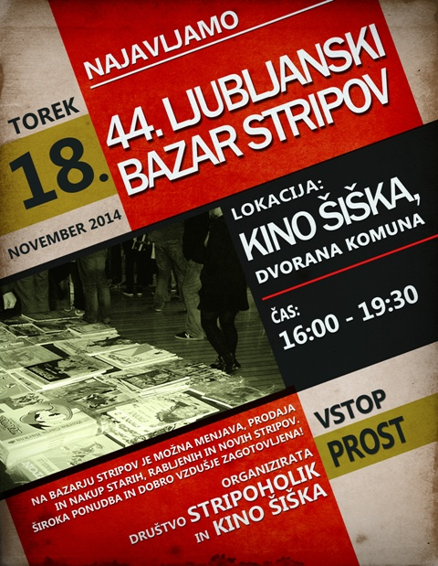 Stripoholik bazar FLYER www